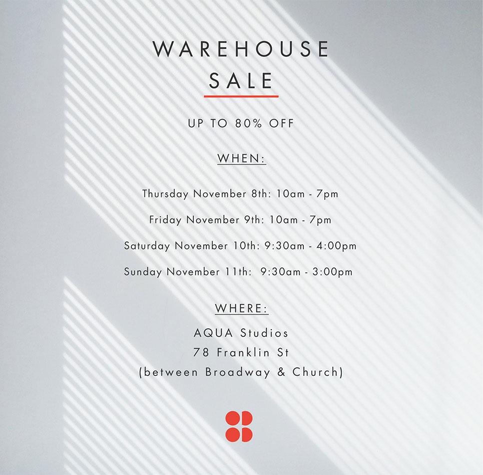 New York Warehouse Sale