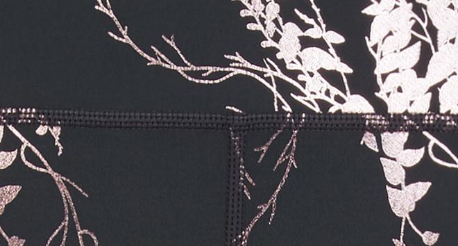 ab314b4b1a5 Disco Foil Cropped Gym Leggings - Slate Rose Foil Print