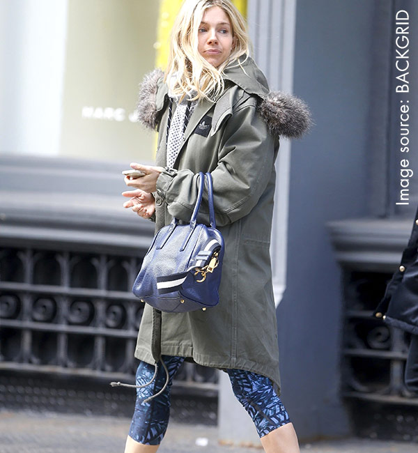 Sienna Miller in Sweaty Betty
