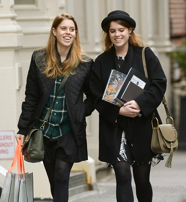 Beatrice and Eugenie in Sweaty Betty