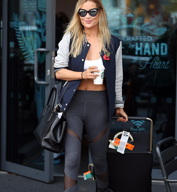 Laura Whitmore in Sweaty Betty